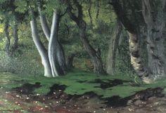 Wald mit Eichen (1918), by Félix Vallotton (1865-1925).