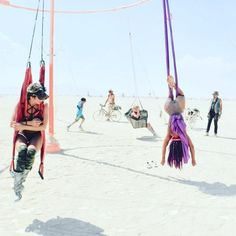 Around and around I go free falling trusting #aerialyogagoddess #burningman