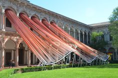MAD architects' invisible border installation at milan design week alters our perception of space