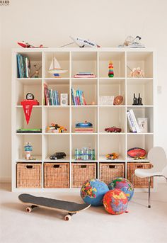 Melbourne Family Home Children's Playroom - I could make the same storage unit look just as good, couln't I?