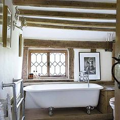 the cottage bathroom, small spaces filled beautifully