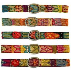Handmade Embroidered Wool Belt - Small - Fair Trade Made by #Connected Fair Trade Products. hand made in Peru by fair trade artisans. small fits 23'' - 31'' measured buckle to first and last holes, respectively. 1 - 7/8'' wide hand wash. runs slightly smaller than normal pant size. we will choose a belt for you from our array of inventory (no two belts are the same)