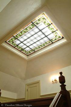 Cutom leaded glass laylight by Theodore Ellison Designs, Piedmont, California
