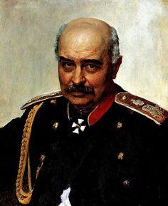 Portrait of General and Statesman Mikhail Ivanovich Dragomirov by Ilya Repin, 1889