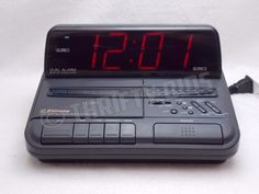Emerson AK2786 FM/AM Digital Clock Radio Audio Cassette Tape Player Dual Alarm  #Emerson
