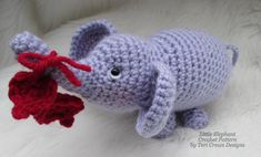 Little Elephant Crochet Pattern pattern on Craftsy.com