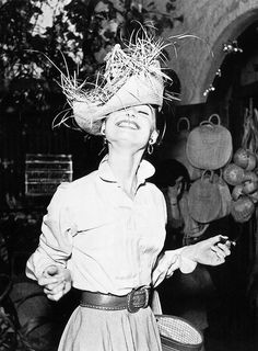 Audrey Hepburn in Los Angeles, 1954.