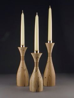 Nice shape wood turning candles