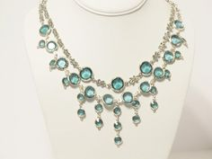 Romantic Aqua Blue Wedding Necklace by RomanticThoughts on Etsy, $64.95