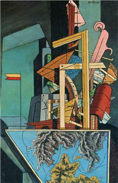 "artist-dechirico: ""The Melancholy of Departure by Giorgio de Chirico Size: cm Medium: oil, canvas"" Italian Painters, Italian Artist, Norman Rockwell, Keith Haring, Centurion Romain, Mondrian, Art Ancien, Tate Gallery, Famous Artwork"