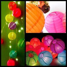 Guirnalda de luces y farolitos chinos | Feria Central