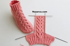 New model booties twisty booties booties / knitting socks crochet easy – The Best Ideas Knitting Paterns, Knitting Videos, Knitting For Beginners, Knitting Socks, Free Knitting, Baby Knitting, Knitted Booties, Knit Boots, Knitted Slippers
