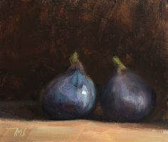 kingcreative:  Two Figs, Julian Merrow-Smith, 17cm x 14cm oil on panel