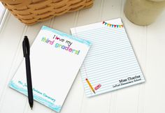 Our notepads are the perfect size for jotting down messages, notes, a grocery list, to do list or reminders.