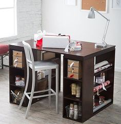 Love this modern craft desk!