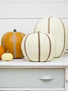 #DIY Decorative Pumpkins: http://www.hgtv.com/handmade/easily-embellish-pumpkins-with-ribbon/index.html?soc=pinterest