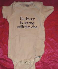 Star Wars onesie from etsy... My grandchildren will have these!!!!!
