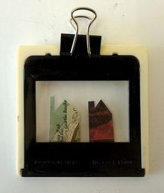 love this combo for mini displays vintage 35mm slide mount