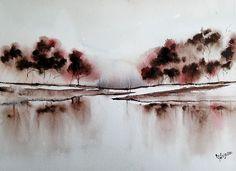 """Breakfast Blend"", 2016  Jim Lagasse Watercolor Unique Work Size : 12 x 16 x 0.1 in."