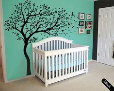 Tree wall decal huge tree wall decals nursery wall decor large wall mural tree…
