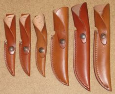 6 Tan Leather Sheaths Case XX Fixed Blade Hunting Knife Sheath Only Lot USA | eBay