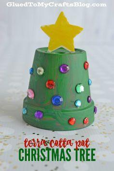Terra Cotta Pot Christmas Tree - Kid Craft