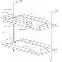 Sellex La Literal Folding Bunk Bed 200 x 90cm - Contemporary Wall Bed.
