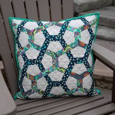 Pillow made from Honey, Honey pattern by I Patch and Quilt. AMy Butler Glow fabrics.