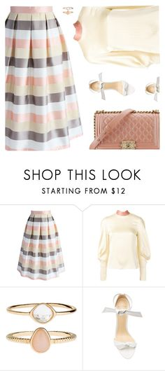 """Peach Schnapps"" by kearalachelle ❤ liked on Polyvore featuring Chicwish, Roksanda, Accessorize, Alexandre Birman and Chanel"