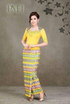 Cr.fb//myanmar dress design