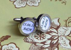 Personalized cufflinks, gift, wedding, groom