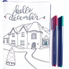 Starting in on my December pages  I absolutely love this time of year. And my favorite thing to do…""