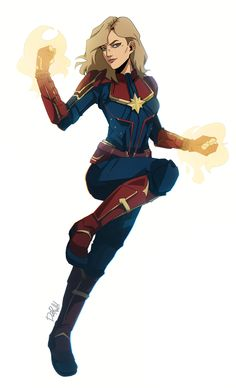 Drawing Marvel Comics Captain Marvel by darwh - Marvel Comics, Marvel Avengers, Marvel Women, Marvel Girls, Marvel Funny, Marvel Art, Marvel Heroes, Cosplay, Miss Marvel