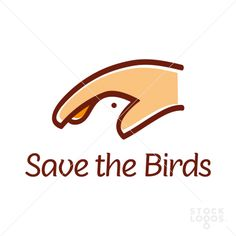 Save the Birds | A very clever logotype design by eye D on StockLogos.com