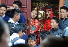 Tibetans celebrated the Dalai Lama's 77th birthday ay Tsuglakhang temple in Dharmsala, India, on July 6, 2012.