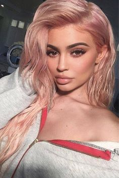 If it's good enough for Kylie Jenner, it's good enough for us! #fairskin #haircolor #hairfashion #rosegoldhair