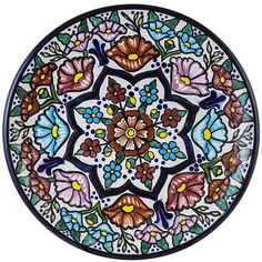 Tomas Huerta TalaveraPlate - Pattern 10 ♥️♣️♣️Talavera Mexican Pottery : More At FOSTERGINGER @ Pinterest ♣️