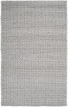 Mathews Hand Woven Wool Gray Area Rug