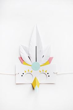 Paper masks by Naomi Cedille, Lucille Michieli and Agathe Boudin Origami, Paper Cutting, Kids Crafts, Bird Masks, Paper Birds, Diy Mask, Mask For Kids, Diy Paper, Diy For Kids