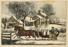 Winter Morning in the Country Publisher: Currier & Ives  (American, active New York, 1857–1907) Date: 1873 Medium: Lithograph