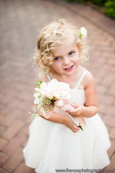 Flower girl wand by Plum Sage Flowers. Photo by Frances Marron. Flower Girl Wand, Flower Hair Band, Flowers In Hair, Wedding Paper, Wedding Bride, Wedding Dresses, Denver Botanic Gardens, Icy Blonde, Natural Hair Updo