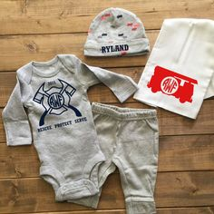Firefighter Baby Boy Coming Home Outfit, Boys Monogrammed outfit, Newborn Boy Hospital, Baby Boy Monogram Newborn, baby boy, boy shirts,