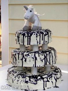 Broke ass bride cake wrecks consider