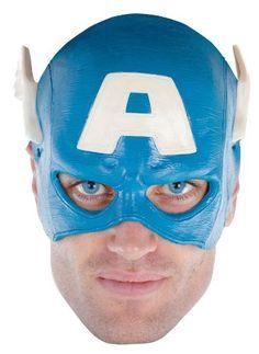 Captain America Vinyl Adult ? Mask - One-Size $13.56