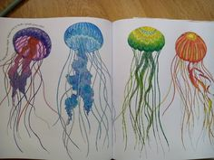 #coloringbookforadults #animalkingdom #animalkingdomcolouringbook #milliemarottasanimalkingdom #milliemarotta #relax #saturday #colors #therapy #chillout #smile #jellyfish #talentedme #lovethis #