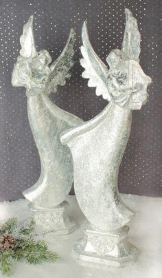 Angel #musical #harp #silver #iced