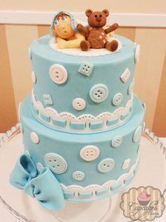 Christening+/+Baptism+-+Baby+boy+cake