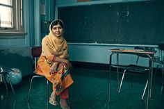 Malala Yousafzai by Norman Jean Roy for Vogue July 2015.