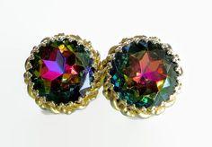 Schiaparelli Watermelon earrings.  Rivoli by JewelryOnVintageLane
