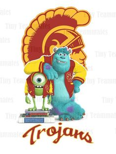 Monsters University Inspired USC Trojans  New by TinyTeammates, $7.00